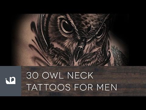 1106b3d0d 30 Owl Neck Tattoos For Men - YouTube