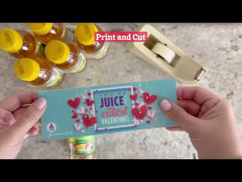 Free Printable Valentine's Day Juice Bottle Wraps - You're 'juice' the cutest Valentine!
