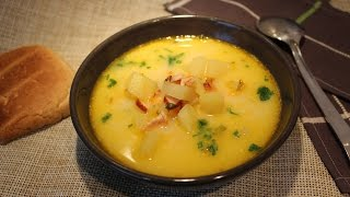 Сливочный суп с копченостями