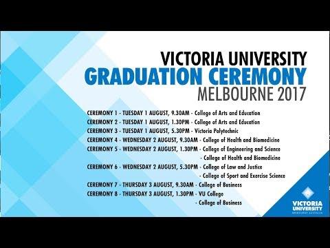 Victoria University Graduation Ceremony 2 August 2017