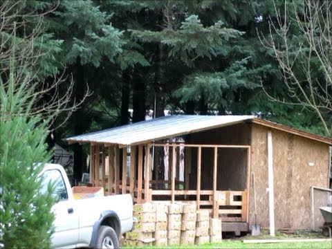 diy how to build a metal roof over your outdoor pig pen