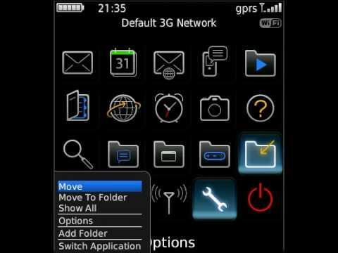 Simple Black BlackBerry Pearl 3G 9100 Theme