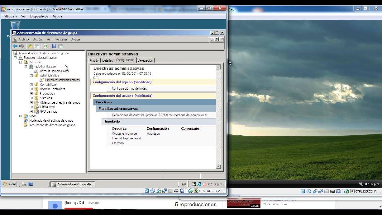 Politicas de seguridad en windows server 2008 - YouTube