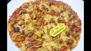 بيتزا صحية بالقمح الكامل و السمك لذيذة و ناجحة 100% 😍👌🏻