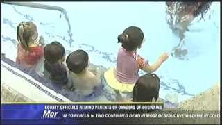 Drowning Prevention at the South Bay Family YMCA on KFMB Channel 8 - 5 PM