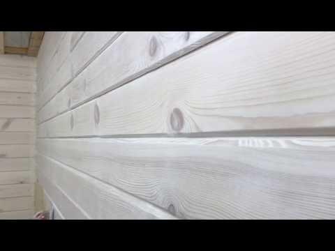 Как отшлифовать и покрасить деревянный дом