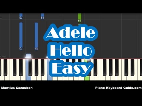 Adele Hello Easy Piano Tutorial - How To Play - Notes