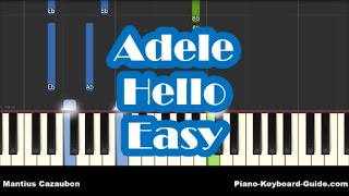 Adele Hello Easy Piano Tutorial How To Play Notes - mp3 مزماركو تحميل اغانى