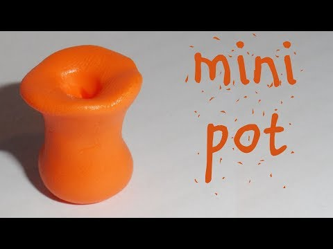 POLYMER CLAY MINI POT – TUTORIAL