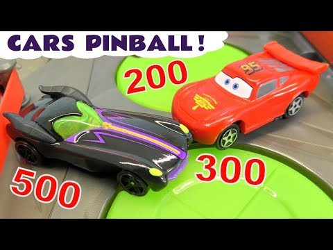 Cars 3 Pinball Challenge with DC Comics & Marvel Avengers 4 vs Pixar McQueen and Mickey Mouse