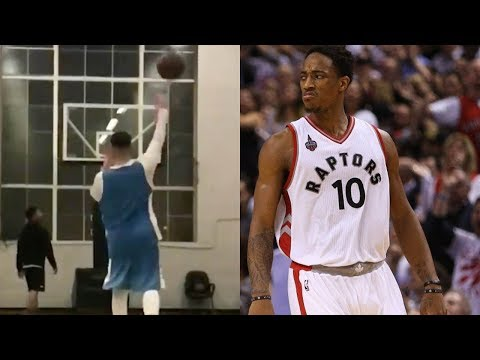 Drake Challenges DeMar DeRozan to One and Done Trick Shot Challenge