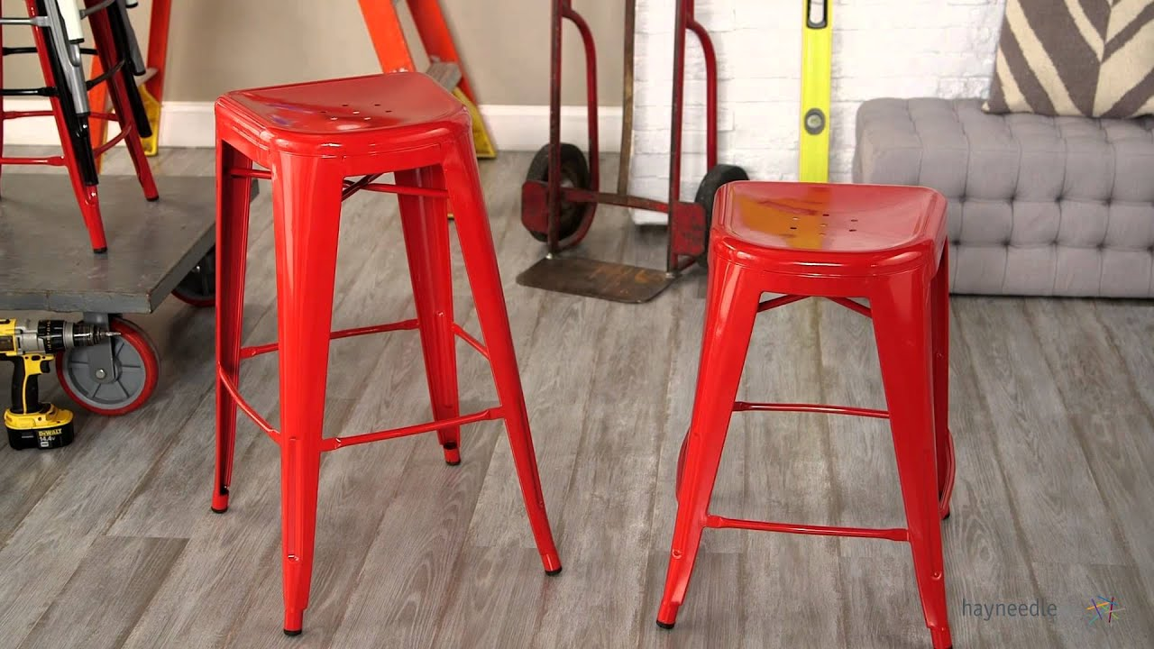 Red Square Front Metal Bar Stools - 2 Piece - Product Review Video & Red Square Front Metal Bar Stools - 2 Piece - Product Review Video ... islam-shia.org