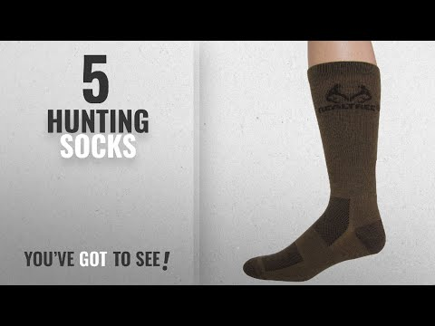 Top 10 Hunting Socks [2018]: Realtree Outfitters Men's Ultra-Dri Boot Socks (1-Pair), Brown, Large