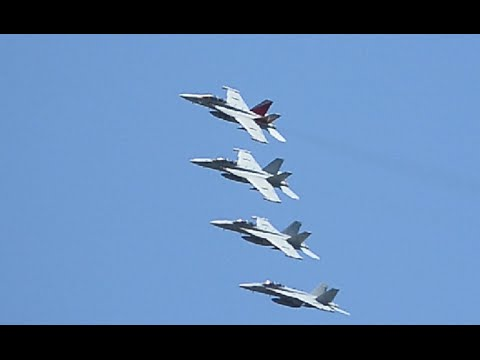 2016 NAS Whidbey Island Open House EA-18G Growler Flybys