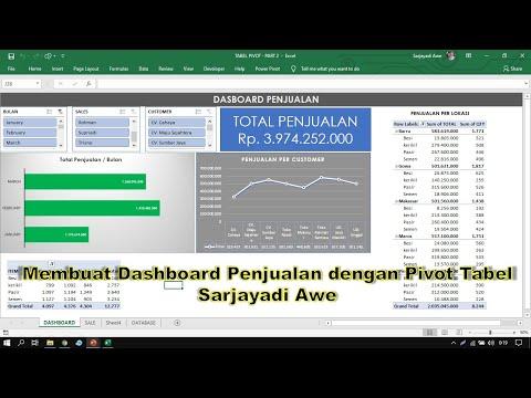 Membuat Analisa Penjualan Dan Dasboard Dengan Tabel Pivot  Part 2 - Finish