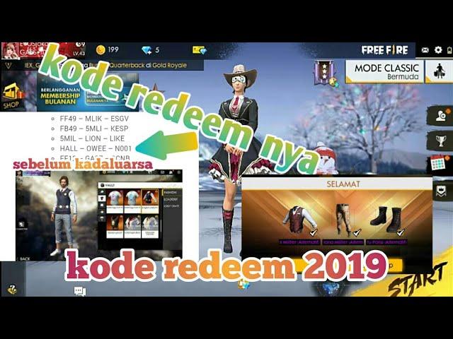 Kode Redeem Terbaru 2019!!! Buruan Sebelum Kadaluarsa..Garena Free Fire