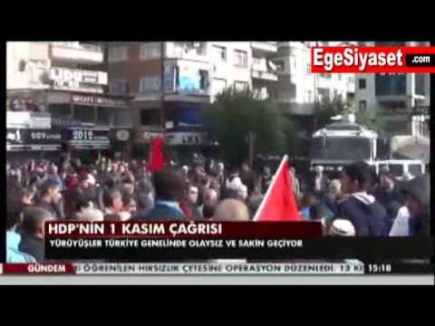 Diyarbakır'daki 'Kobani Günü' Yürüyüşünde Korkulan Olmadı