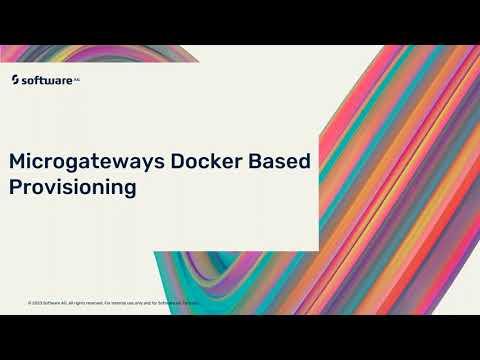 Microgateway Docker Based provisioning | webMethods.io API Gateway