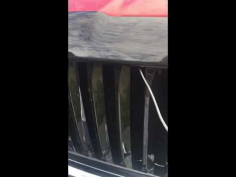 95-01 Dodge Ram hood latch stuck - YouTube