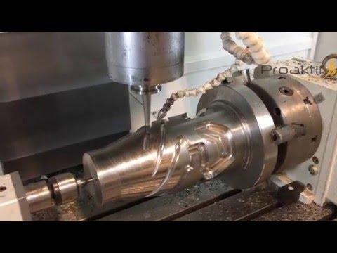 BobCAM for SolidWorks 4 Eksen Plastik Dağıtıcı Roket Kafası İşlemesi