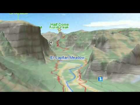 Yosemite - US National Parks 3D Maps - 3D Topo Map gCARTA - GeoFlyer ...