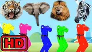 Kid -Kids -Learn Colors With ZOO Wild Animals Wrong Heads/Funny Kids Learning Animation/Bugs Insect