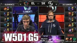Elements vs SK Gaming | S5 EU LCS Summer 2015 Week 5 Day 1 | EL vs SK W5D1 G5