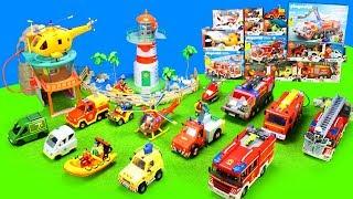 Feuerwehrmann Sam Spielzeug & Feuerwehrautos: Fireman Fire Truck Toys Unboxing for Kids