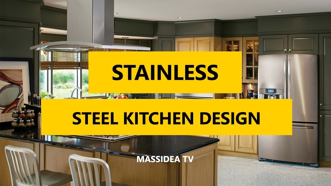 50+ modern stainless steel kitchen design ideas 2018