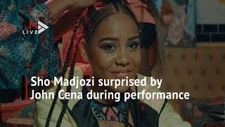 Sho Madjozi surprised by John Cena during performance