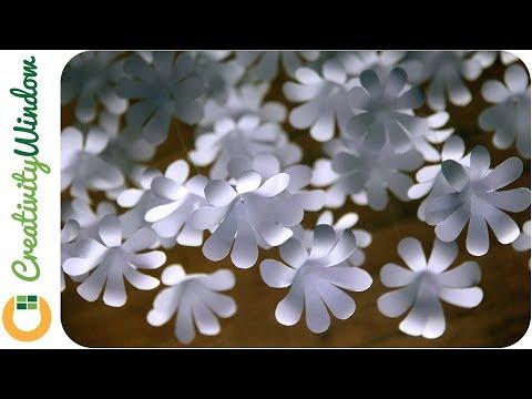 Cascading Flowers Using Bond Paper and Loop Ties