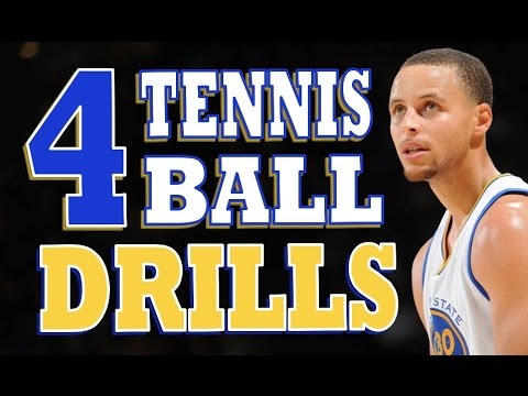 Improve Your Ball Handling | 4 Stationary Tennis Ball Drills | Pro Training Basketball