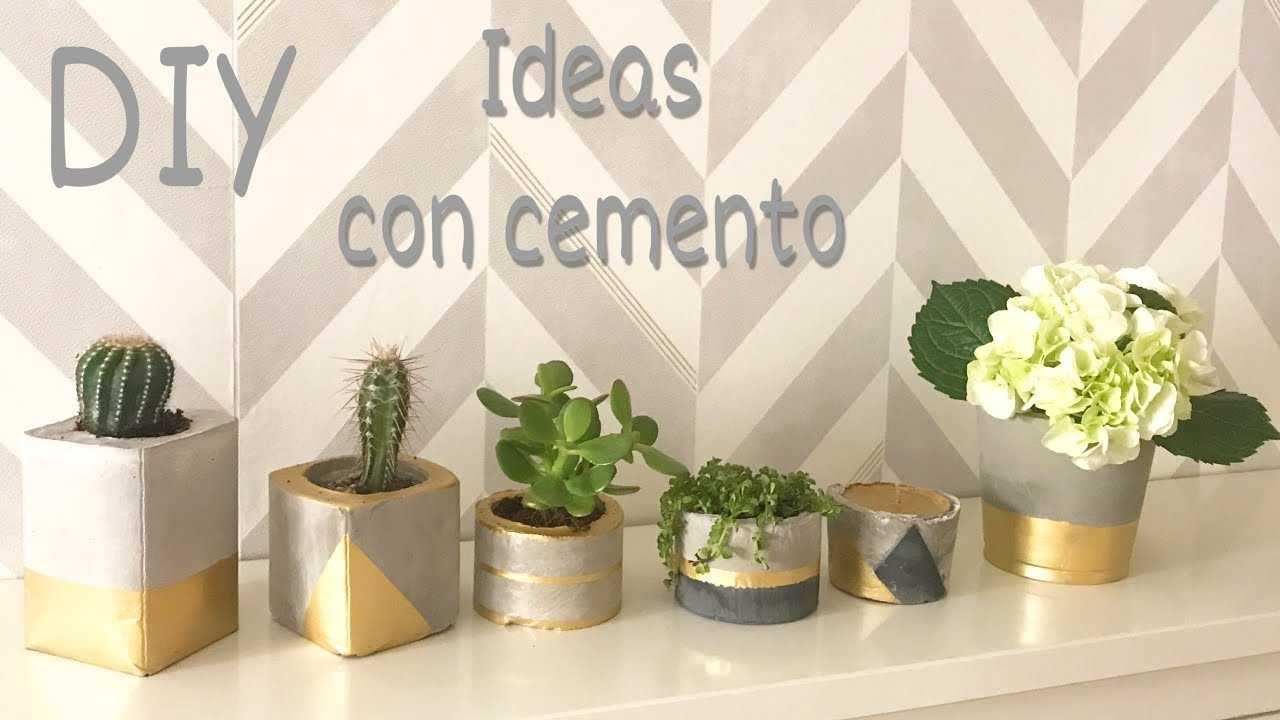 Diy Como Hacer Manualidades Para Decorar Con Cemento Concrete Ideas - Decoracin-manualidades