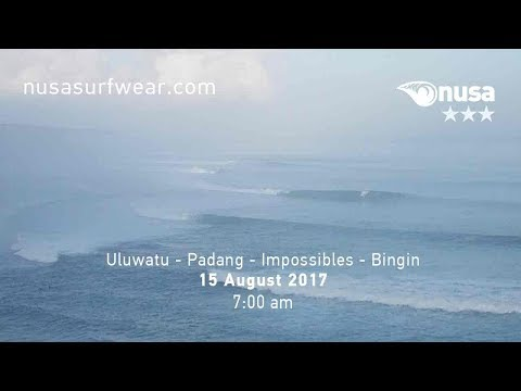15 - 08 - 2017 / ✰✰✰ / NUSA's Daily Surf Video Report from the Bukit, Bali.
