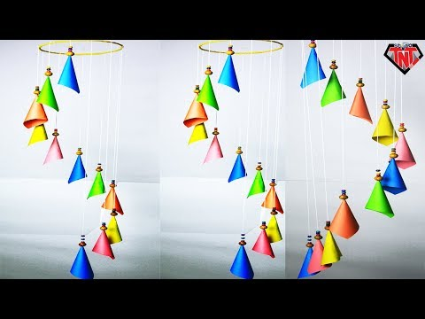 How To Make Wind Chime Out of Color Paper | DIY Paper Wind Chimes Easy Way To Make | Handmade Chime