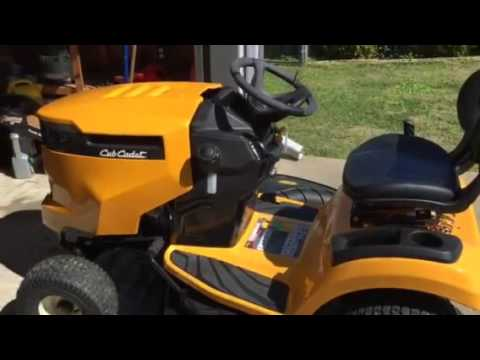 Cub Cadet Xt1 Lt50 Lawn Tractor Starter Problems First Day Of Use Youtube