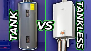 TANK vs TANKLESS WATER HEATER (Pros and Cons)