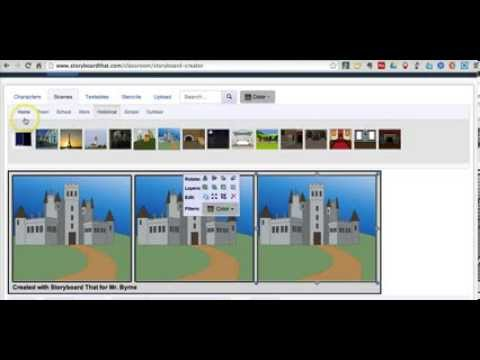 How to use Storyboard That to Create Simple Comic Strips - YouTube