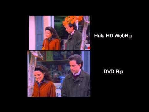 Seinfeld - Hulu HD WebRip VS DVDrip comparison