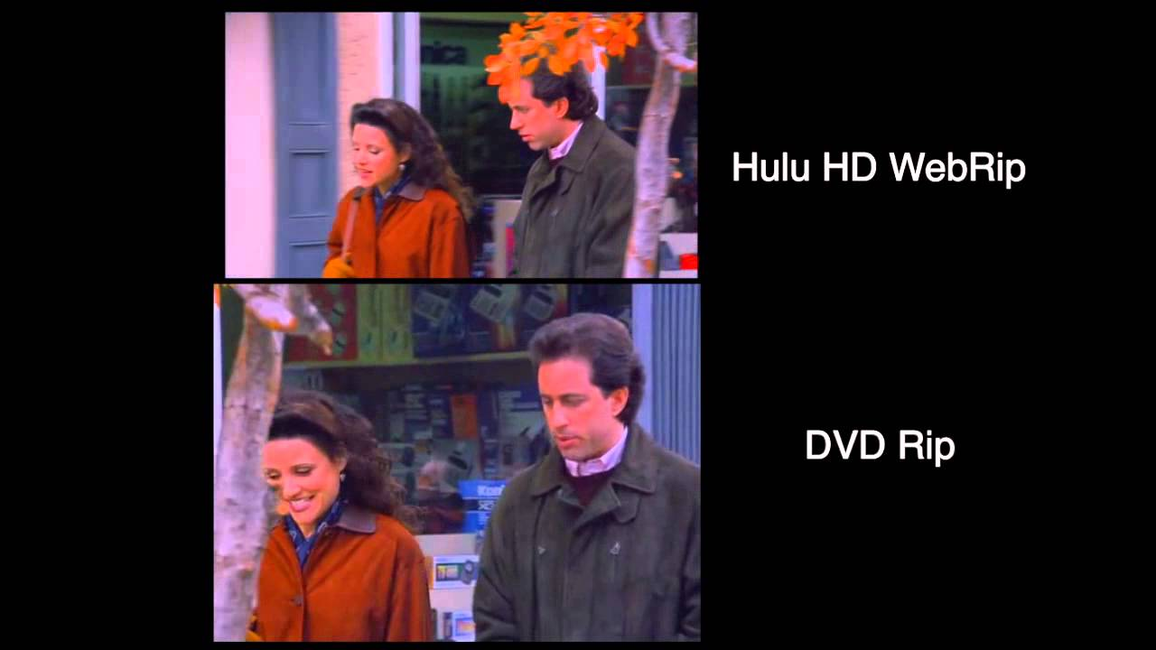 Seinfeld - Hulu HD WebRip VS DVDrip comparison