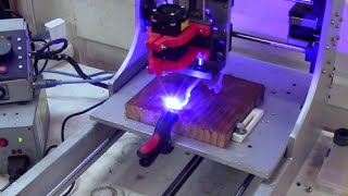 Putting a blue laser on my home made CNC machine