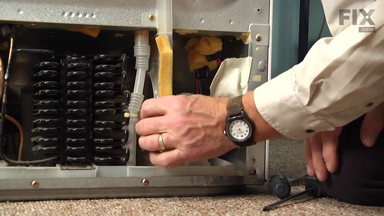 ge refrigerator diagram wiring for contactor and overload repair – how to replace the condenser fan motor - youtube