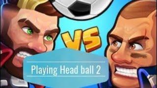 Playing Head ball 2 online soccer Game screenshot 4