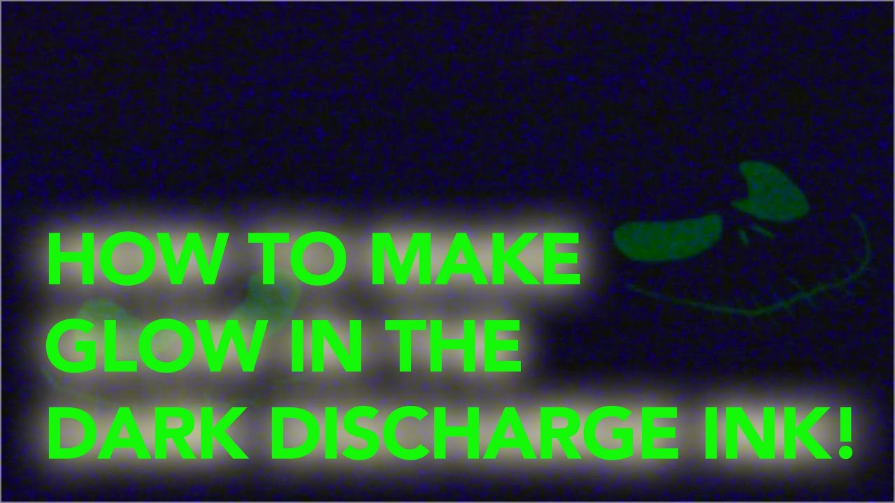 How To Screen Print Making Glow In The Dark Discharge