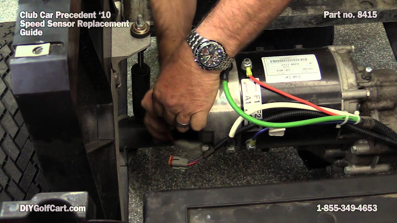 Speed Sensor For Club Car Motor How To Replace On Golf Cart Youtube 12 Lead Wiring Diagram Dc
