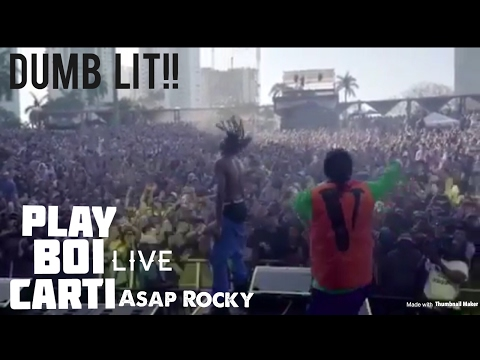PlayBoiCarti Brings Out Asap Rocky Too Perform