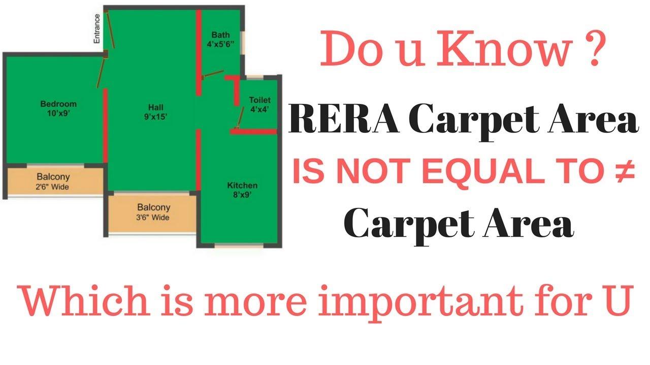 RERA Carpet Area Vs Actual Carpet Area  RERA carpet area
