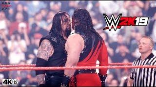 WWE 2K19 UNDERTAKER VS KANE I PC 4k 60fps @UHD