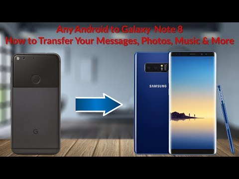 Android to Galaxy Note 8 How to Transfer Your Messages, Photos, Music & More - YouTube Tech Guy