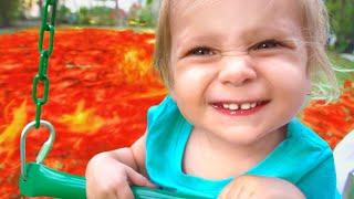 الأرض حمم بركانية - أغنية للطفل   Kids Song by Maya and Mary